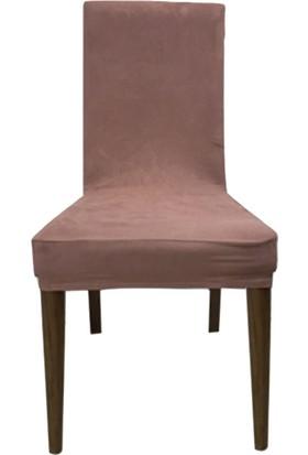 Güliz Home Sandalye Kılıfı Süet Gül Kurusu