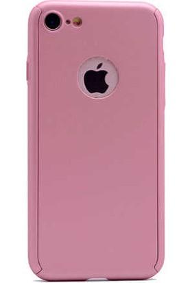 Antdesign Apple iPhone 6 / iPhone 6s 360 Derece Koruma Sert Silikon Kılıf Rose Gold Gold