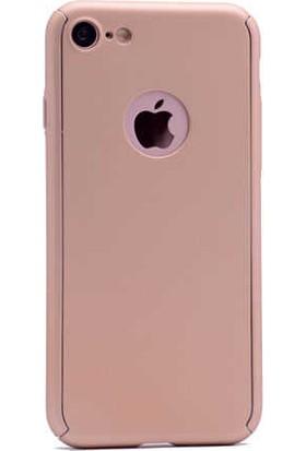 Antdesign Apple iPhone 6 / iPhone 6s 360 Derece Koruma Sert Silikon Kılıf Gold