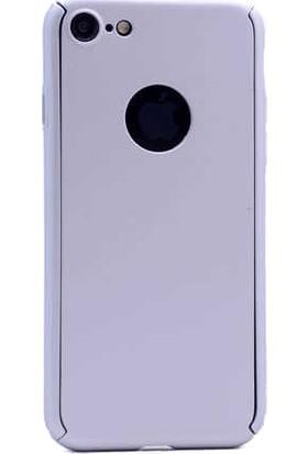 Antdesign Apple iPhone 7 / iPhone 8 360 Derece Tam Koruma Sert Silikon Kılıf Gri