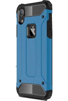 Antdesign Apple iPhone XR Crash Serisi Dayanıklı Kılıf Mavi