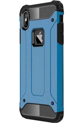 Antdesign Apple iPhone XS Max Crash Serisi Dayanıklı Kılıf Mavi