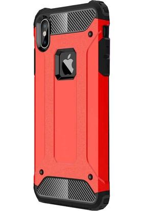 Antdesign Apple iPhone XS/X Crash Serisi Dayanıklı Kılıf Kırmızı