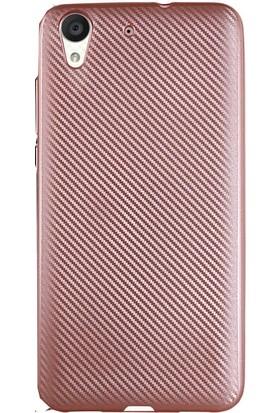 Antdesign Huawei Honor Y6 Karbon Carbon Soft Kılıf Rose Gold