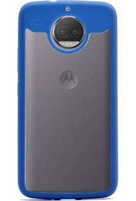 Antdesign Motorola Moto G5S Plus Buttom Serisi Kılıf Mavi