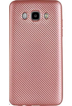 Antdesign Samsung Galaxy J5 2016 Karbon Carbon Soft Kılıf Rose Gold