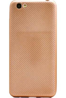 Antdesign Vestel E3 Karbon Carbon Soft Kılıf Gold