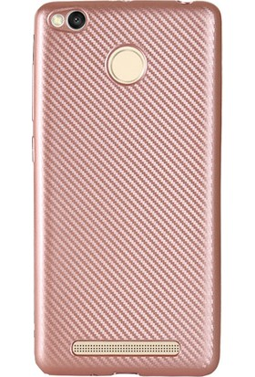 Antdesign Xiaomi Redmi 3s Karbon Carbon Soft Kılıf Rose Gold