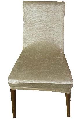 Gülizhome Sandalye Kılıfı Kadife Bej