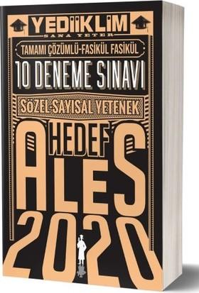 Yediiklim Yayınları 2020 ALES Sayısal Sözel Yetenek Çözümlü 10 Deneme Sınavı