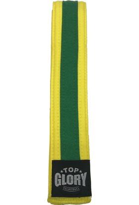 Top Glory Sarı Yeşil Taekwondo Kuşak 200 cm