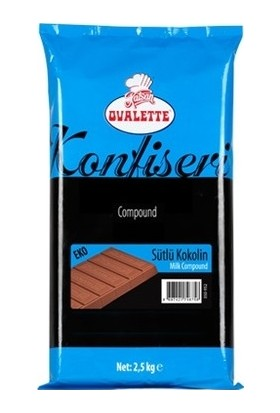 Ovalette Sütlü Eritme Çikolata Konfiseri 2,5 kg