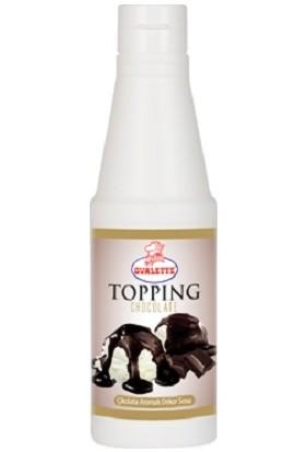 Ovalette Çikolatalı Dekor Topping Pasta Dondurma Sosu 1 kg