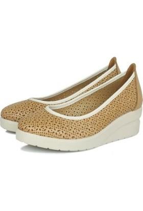Erkan Kaban 1230 167 Kadın Taba Dolgu Topuk Ayakkabı