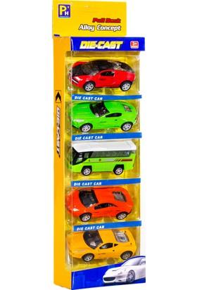 Can-Em Oyuncak Kutuda 5'li Metal Çekbırak Araba