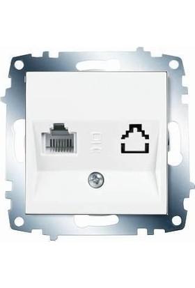 Viko Karre Meridian Tekli Data Priz Mekanizması Cat6 + Beyaz Kapak Çerçevesiz