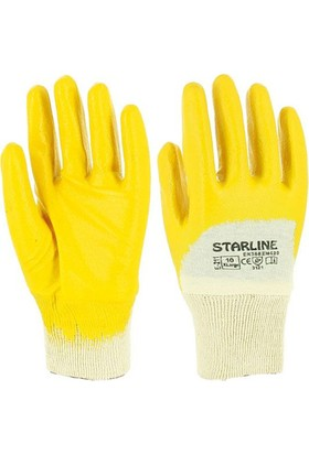 Starline E-204 Nitril Eldiven (No:9) Sarı