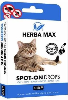 Herba Max Biocide Bitkisel Dış Parazit Kedi Ense Damlası 5 Adet 2 ml