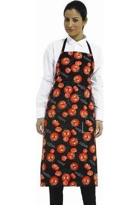 Şensel Bayan Ön Önlük - Çiçek Desenli Garson Aşçı Restorant Önlüğü - Mutfak Önlüğü
