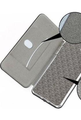 Prolysus Apple iPhone 8 Plus Kılıf Kapaklı Cüzdan Flip Cover Wallet Kılıf Altın