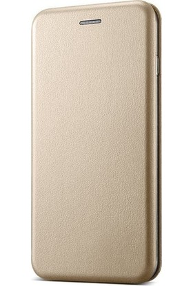 Prolysus General Mobile Gm 5 Plus Kılıf Kapaklı Cüzdan Flip Cover Wallet Kılıf Altın