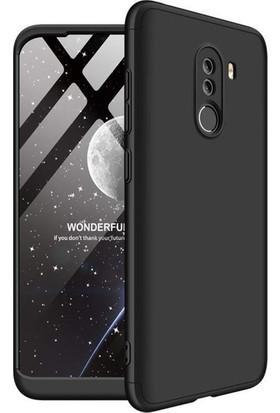 Kılıfreyonum Xiaomi Pocophone F1 360 Derece Tam Korumalı Kılıf Koruyucu Cam Siyah