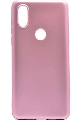 CoverZone Motorola One Vision Kılıf Premier Silikon Kılıf Rose Gold + Temperli Ekran Koruma