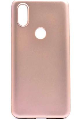 CoverZone Motorola One Vision Kılıf Premier Silikon Kılıf Altın + Temperli Ekran Koruma