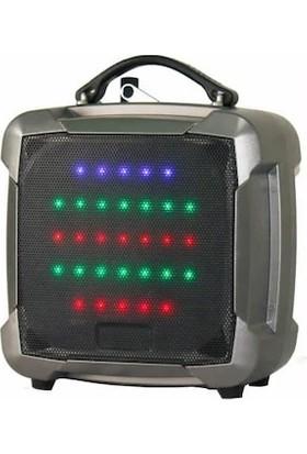 Ace Audio PAT8 - 8'' 100 Watt Taşınabilir Şarjlı Amplifikatör (Gümüş)