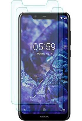 Case 4U Nokia 5.1 Plus Cam Ekran Koruyucu Blue Nano Cam Şeffaf
