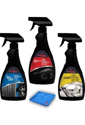 Carwax 3'Lü Set Effort 2 + All Purpose Cleaner + Tyre 007 - 500 Ml (Totalde 1500Ml)