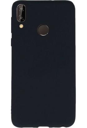 Aksesuarkolic Samsung Galaxy A20 Kılıf Ultra Ince Mat Silikon + Cam Ekran Koruyucu Siyah