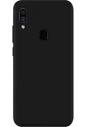 Aksesuarkolic Samsung Galaxy A30 Premium Silikon Kılıf Siyah