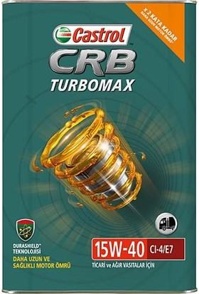 Castrol CRB Turbomax 15W-40 CI-4 16 Kg Motor Yağı ( Üretim Yılı: 2021 )