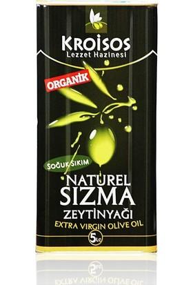 Kroisos Soğuk Sıkım Organik Zeytinyağı 5 lt