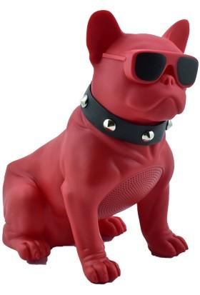 Esrenkli Gözlüklü Köpek Ses Bombası Kırmızı