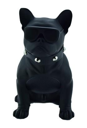 Esrenkli Gözlüklü Köpek Ses Bombası Siyah