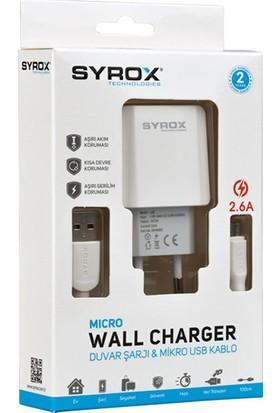 Syrox 2.6A Micro USB Hızlı Şarj Cihazı