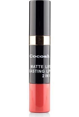 Cocosh She Matte Lipstick Lasting Lipgloss 2 in 1 Smile Ruj 01 - Red