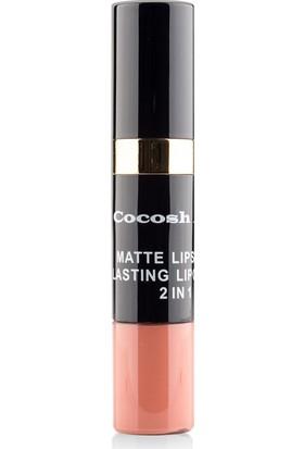 Cocosh She Matte Lipstick Lasting Lipgloss 2 in 1 Smile Ruj 02 - Latte