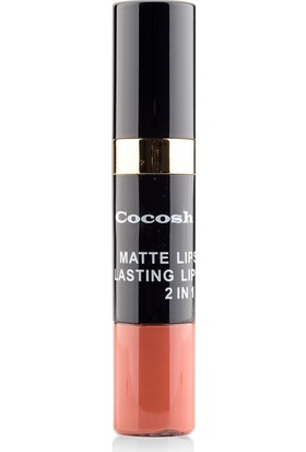 Cocosh She Matte Lipstick Lasting Lipgloss 2 in 1 Smile Ruj 03 -Tile