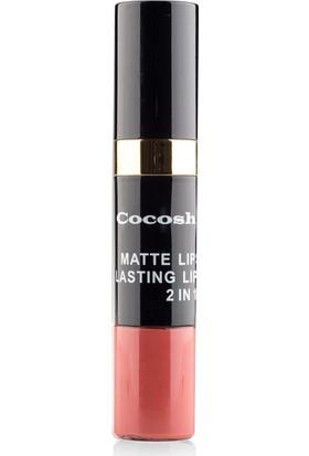 Cocosh She Matte Lipstick Lasting Lipgloss 2 in 1 Smile Ruj 06 - Rusty