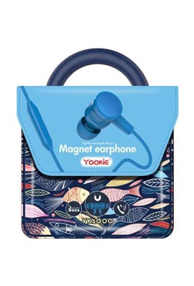 Yookie YK1000 Magnet Kulakiçi Kulaklık - Mavi