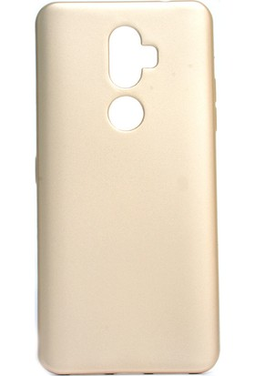 KNY Alcatel 3V Kılıf Ultra İnce Mat Silikon Gold + Cam Ekran Koruyucu