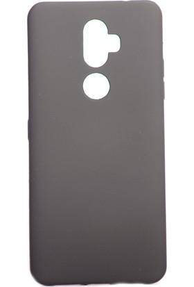 Happyshop Alcatel 3V Kılıf Ultra İnce Mat Silikon Siyah + Cam Ekran Koruyucu