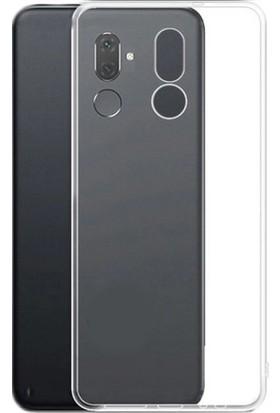 Happyshop Alcatel 3V Kılıf Ultra İnce Şeffaf Silikon Şeffaf + Cam Ekran Koruyucu