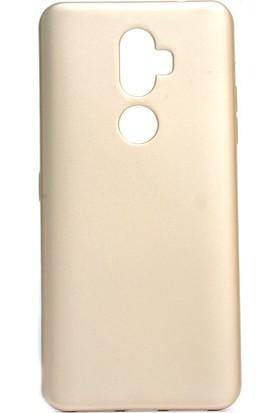 Happyshop Alcatel 3V Kılıf Ultra İnce Mat Silikon Gold + Nano Cam Ekran Koruyucu