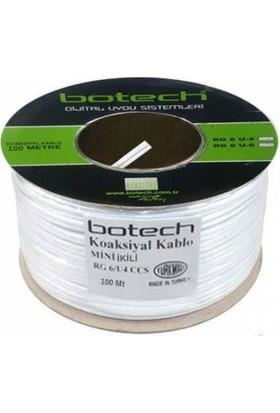 Botech Rg6/u 4K Çanak Anten Uydu Kablosu 100 Mt.