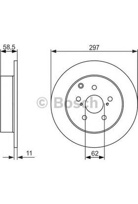 Bosch Fren Diski Arka [5D 297Mm] Verso 1.6 1.8 09 1Zr Fae