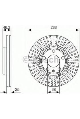 Bosch Fren Diski Ön [5D 288Mm] Super B Passat A4 1.6 94 Adp Ahl